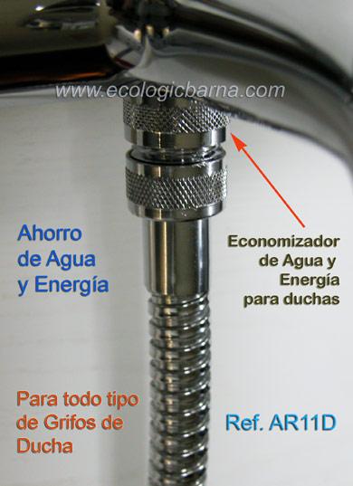 "Tipos Griferia Para Baño:ECONOMIZADOR REDUCTOR DE AGUA PARA DUCHAS ref AR11D – Rosca 1/2"" – 8"